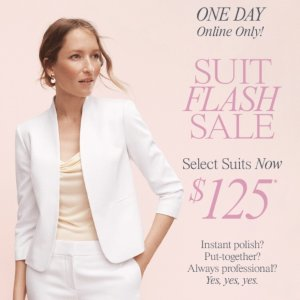 Only For $125Today Only: Suit Flash Sale @ Ann Taylor Factory