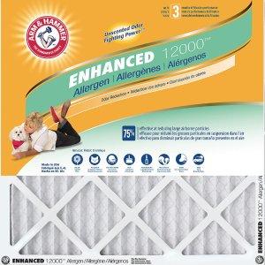 低至5.5折 包邮Arm & Hammer 防敏空调过滤网12个装  多尺寸可选