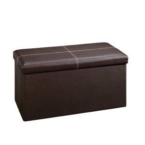 $22Sauder 大号皮革储物凳 棕色