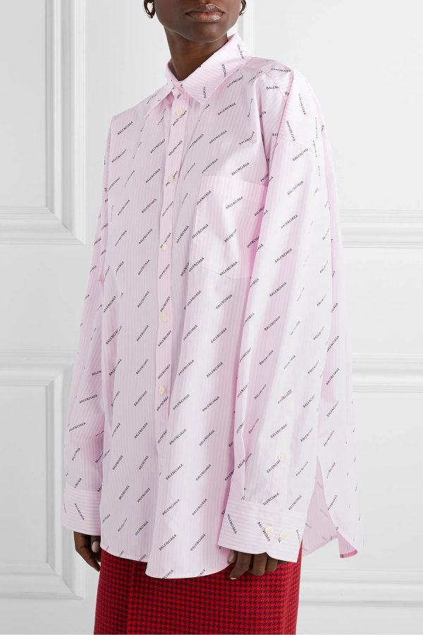 Oversized striped 衬衣