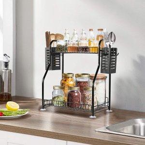 $29.99(原价$44.99)多功能双层置物架 厨房调料餐具收纳 整洁收纳杂物