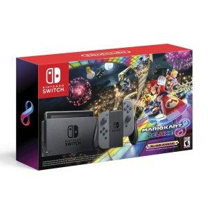 $299.99 (原价$349)Nintendo Switch 马车8豪华版 同捆套装 灰色款