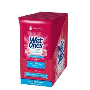 Wet Ones 抗菌湿巾 20张/包 10包入