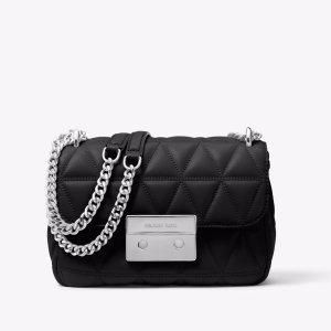 59898909f4f2 Michael KorsSloan Small Quilted-Leather Shoulder Bag. $125.10 $278.00. Michael  Kors Sloan ...