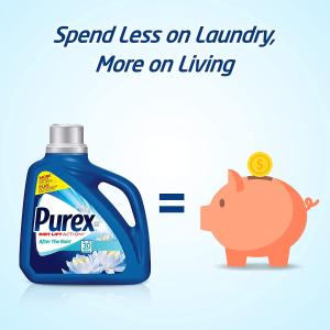 $3.25(原价$6.49)Purex Plus Oxi 洗衣液1.47升 去污力强 衣物不脱色