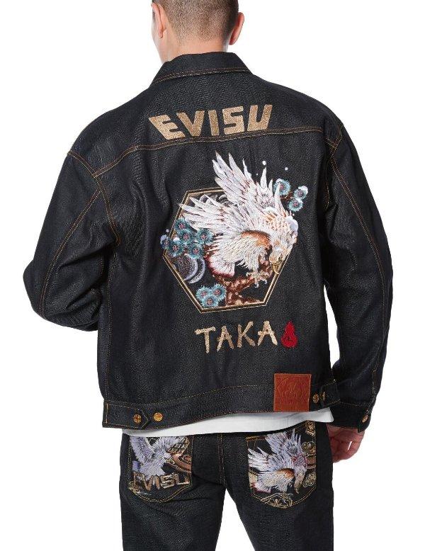 Taka 和风画牛仔外套