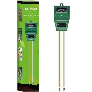 白菜价:Sonkir 三合一土壤湿度/光照/PH值测试仪