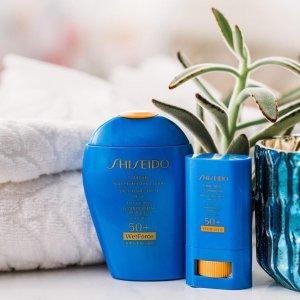 最高送价值$191好礼Shiseido官网 防晒产品热卖 秋冬防晒不可怠慢