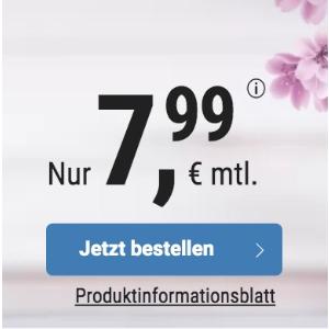 月租€7.99 代号入网送10欧送2GB+免接通费 包月电话/短信+5GB上网+欧盟漫游