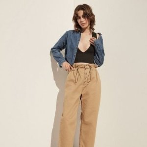 Urban Outfitters Terra High-Waisted Paperbag Pant