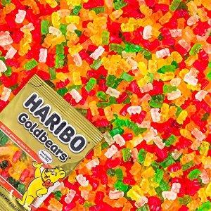 $10.24 每袋仅$0.85Haribo Gummi 小熊果汁软糖 原装金熊 5盎司 12袋