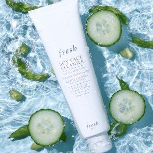 Fresh清洁卸妆2合1 温柔呵护肌肤大豆精萃卸妆洁面