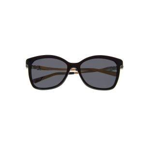 SwarovskiShiny Black & Smoke Wayfarer Style Sunglasses SK0154-H-5401C