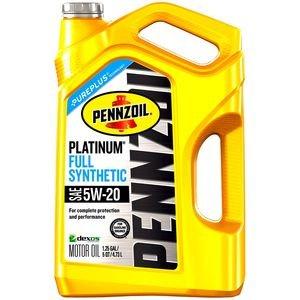 Pennzoil Platinum Full Synthetic Motor Oil 5 Quart