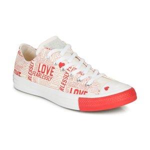 Converse小爱心低帮帆布鞋