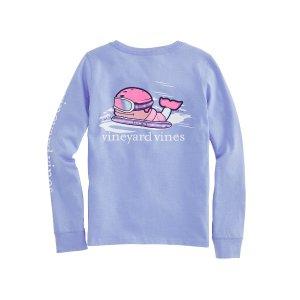 Vineyard Vines滑雪小鲸鱼图案女童T恤