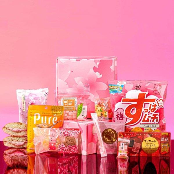 季节限定樱花粉零食礼盒