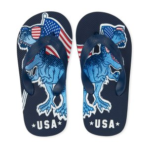 The Children's PlaceBoys Americana 'USA' Dino Flag Flip Flops