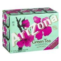 Arizona 亚利桑那人参蜂蜜绿茶, 11.5 Fl Oz, 12罐