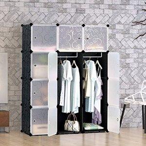 12件组合装仅$49团购:Groupon精选 简易塑料组合储物柜 经济型衣柜