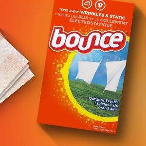 $3.8起 4分钱烘出阳光味道Bounce 衣物烘干纸 防静电 抗过敏 好闻还防皱