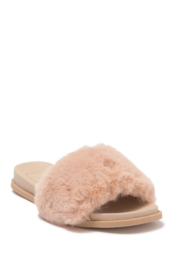Gwynn Faux Fur 毛拖鞋