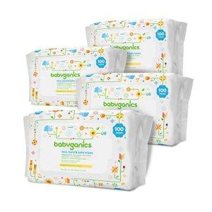 7.5折+额外9.5折+包邮Babyganics 无香型宝宝湿巾400抽,全身可用