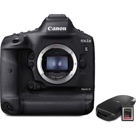 $6499Canon EOS-1D X Mark III DSLR + CFexpress Card and Reader