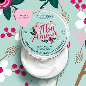 $25入限量情人节Tote礼包(价值$34.5)L'occitane 全场脸部、身体护肤热卖 入中国红限量版