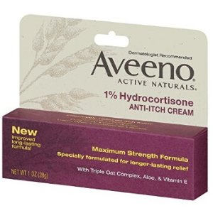 $7.98Aveeno 1% Hydrocortisone Anti-Itch Relief Cream, 1 Oz (Pack of 2)