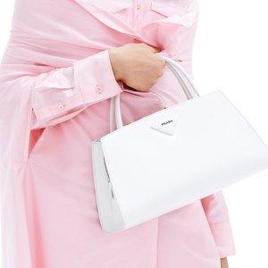 Brushed leather handbag