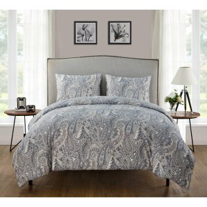 $14.29VCNY Home Palila Paisley 3-Piece Bedding Duvet Cover Set with Shams