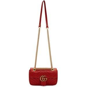 Gucci官网定价$2250Mini Marmont 红色