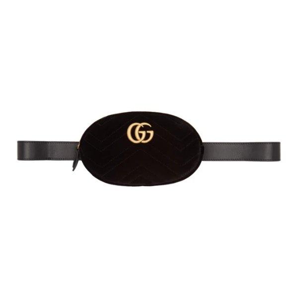 GG Marmont 丝绒腰包