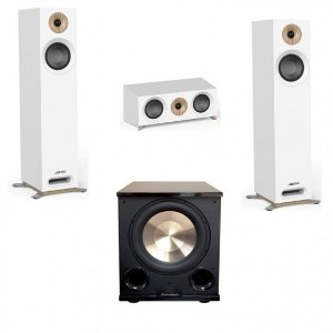 Jamo StudioSeries 3.1 White Home Theater System with S 805 Towers and PL-200II subwoofer