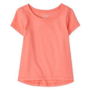 The Children's Place6M-24M,2T,4T-5T小童纯色T恤