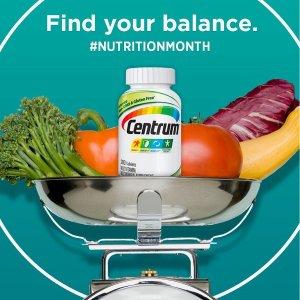 8折起 一个月量低至€6.39Centrum善存维生素 及时补充每日所需营养 增强免疫力