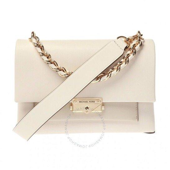 Jade Leather白色链条单肩包