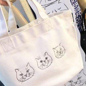 猫咪包2个直邮含税到手价$92Rootote 日本小众帆布包 三十而已王漫妮同品牌 收软软枕头包