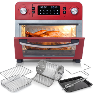 Dealmoon Exclusive: Deco Chef 24QT Stainless Steel Countertop Toaster Air Fryer Oven with Accessories