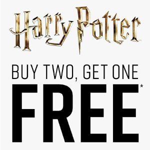 Buy two get one freeHarry Potter products @Hot Topic
