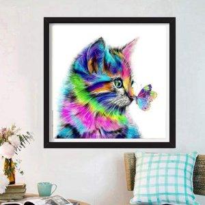 $12.99(原价$14.99)史低价:SUMAJU DIY 5D 猫钻石画套装 亲手打造房间装饰画