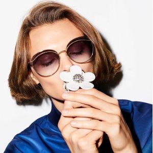 一律$39.99+无税包邮 猫眼款瘦脸神器Marc Jacobs 精选时尚墨镜热卖