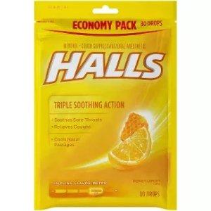 Halls 何氏薄荷糖,80粒装
