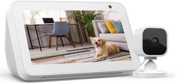 Echo Show 5 智能家庭助手 + Blink Mini 室内监控安防摄像头