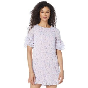CeCeTiered Ruffle Sleeve Whispering Blossoms Dress
