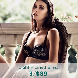3/$89 (Up to $129 Value) Lightly Lined Bra Sale @ Eve's Temptation
