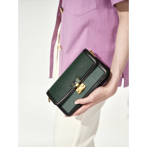 Charles & KeithYellow Stone-Embellished Clutch