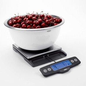 $36.99OXO 不锈钢厨房电子秤 11磅 显示面板可拉出方便阅读