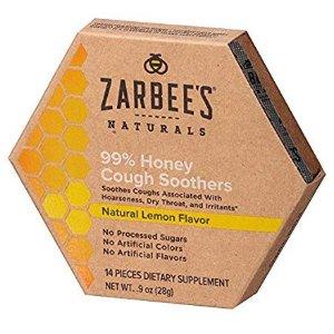 Zarbee's Naturals 99% 蜂蜜舒缓咳嗽含片